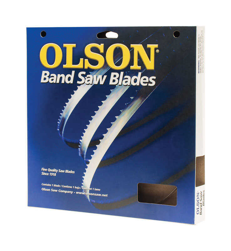 Olson  32-7/8 in. L x 1/2 in. W x 0.02 in. thick  Bi-Metal  Portable Band Saw Blade  14 TPI Regular
