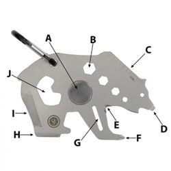 UST Brands  Tool A Long  Bear  Multi-Tool  Silver  1 pc.
