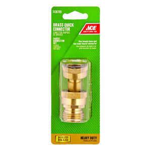 Ace  3/4 in. Brass  Threaded  Male/Female  Quick Connector Faucet Set