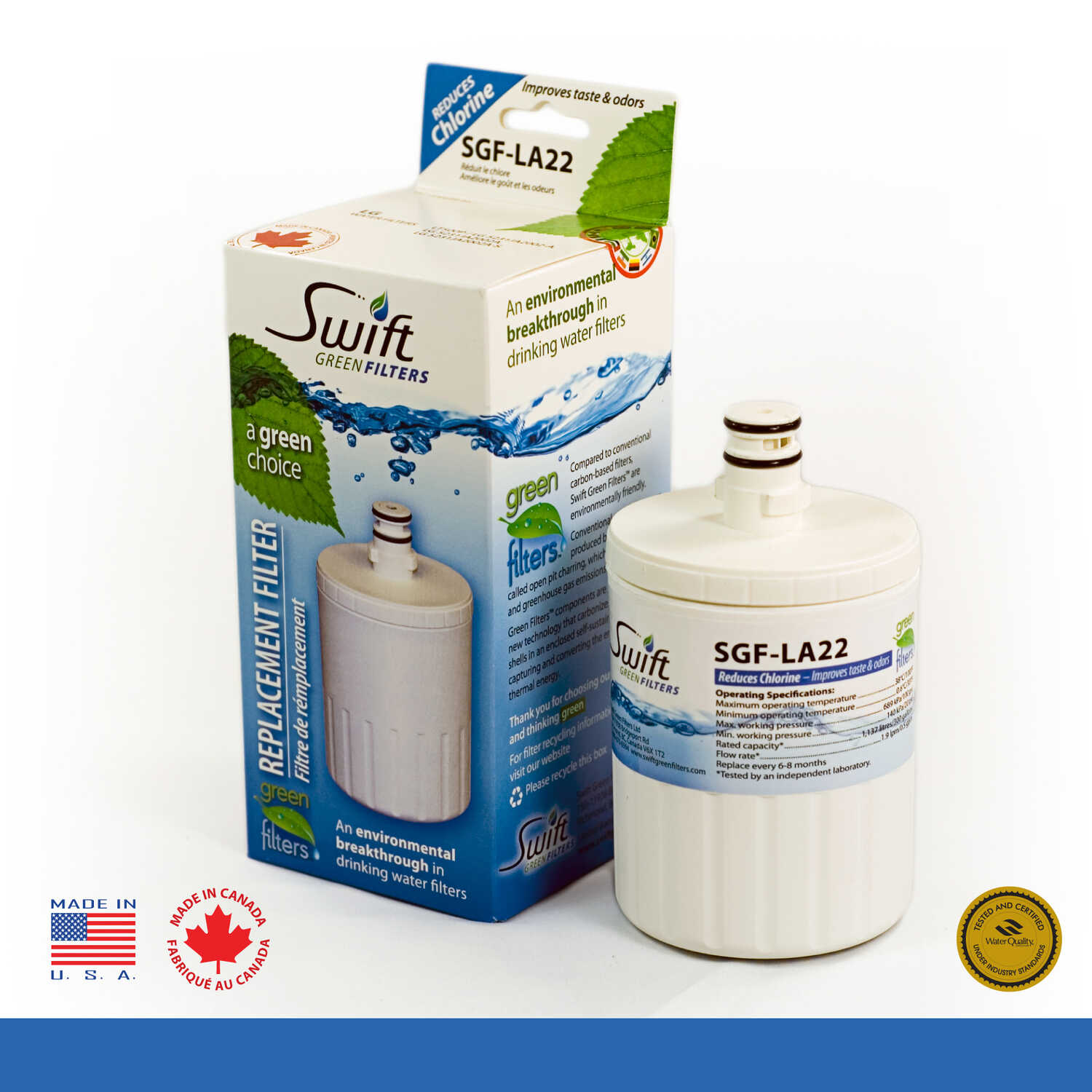 Swift  Green Filters  Replacement Water Filter  For Refrigerator 2500 gal.