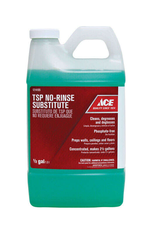 Ace  No Scent TSP No-Rinse Substitute  Liquid  1/2 gal.