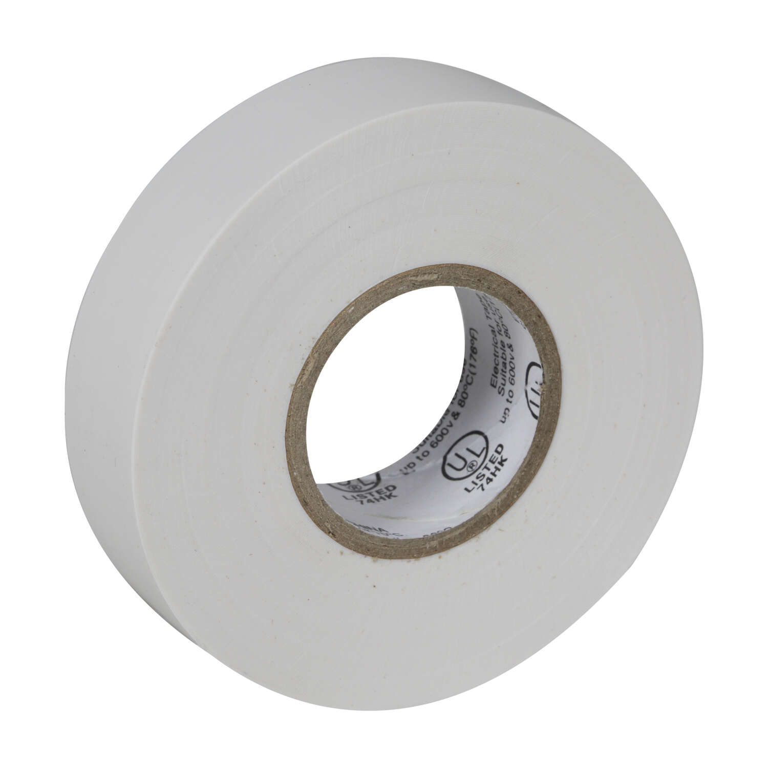 Duck Brand  3/4 in. W x 66 ft. L White  Electrical Tape  Vinyl