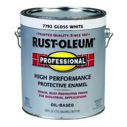Rust-Oleum  Professional  Gloss  White  Oil-Based  Alkyd  Protective Enamel  Indoor and Outdoor  450