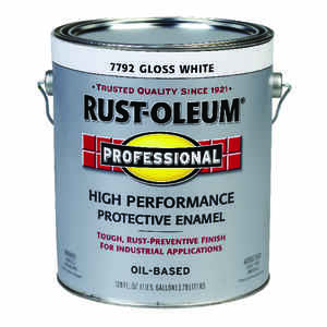 Rust-Oleum  Professional High Performance  Gloss  White  Protective Enamel  Indoor and Outdoor  450