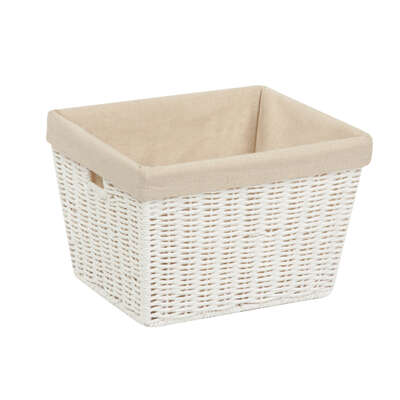 Honey Can Do  8 in. H x 12 in. W x 10 in. L White  Rope Basket