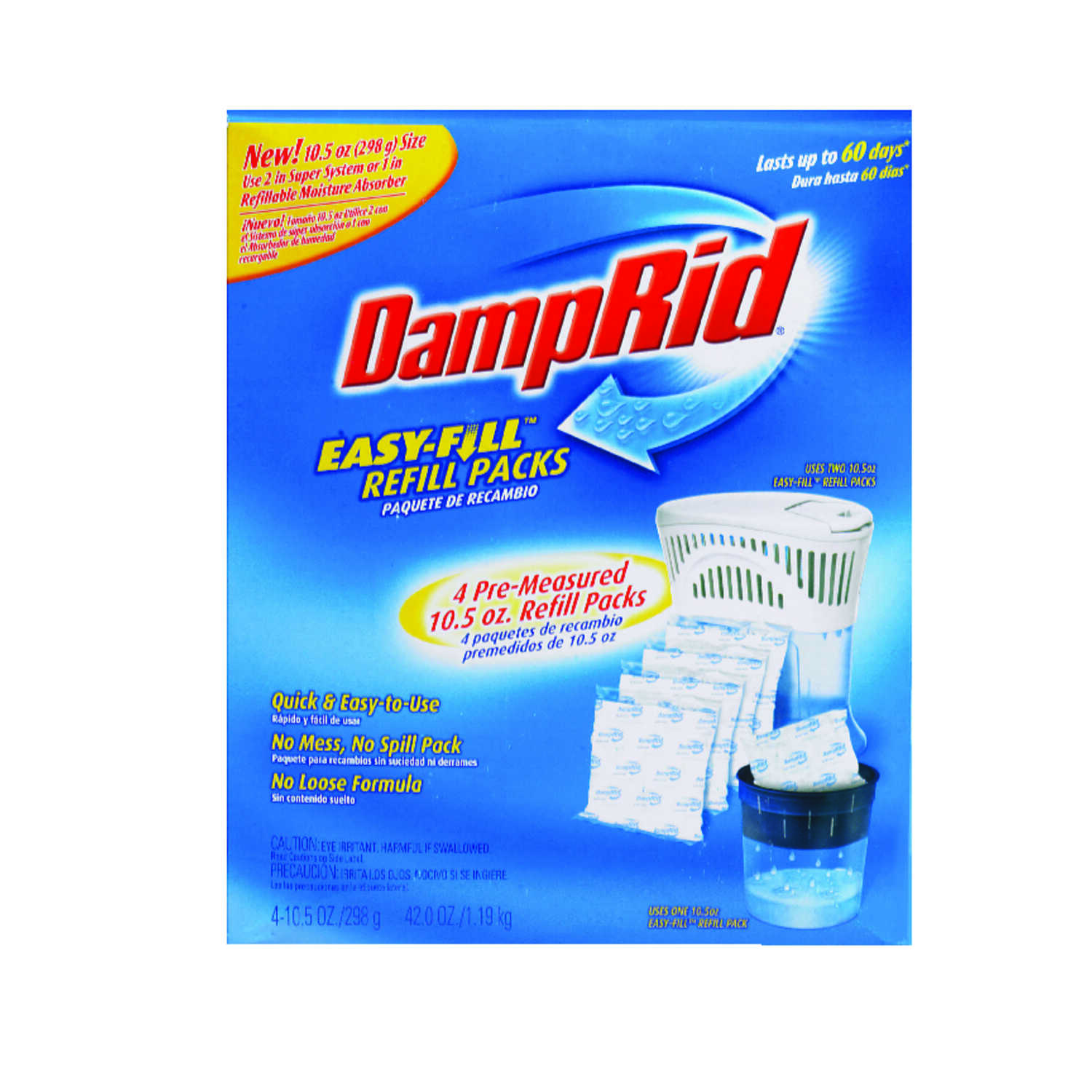 DampRid  Easy Fill  42 oz. No Scent Moisture Absorber Refill