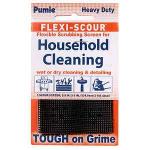 US Pumice  Flexi-Scour  Delicate, Light Duty  Scrubbing Screen  For Multi-Purpose 4 in. L 24 pk