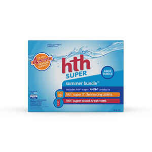 hth  Super Summer Bundle  Chlorinating System  35 lb.