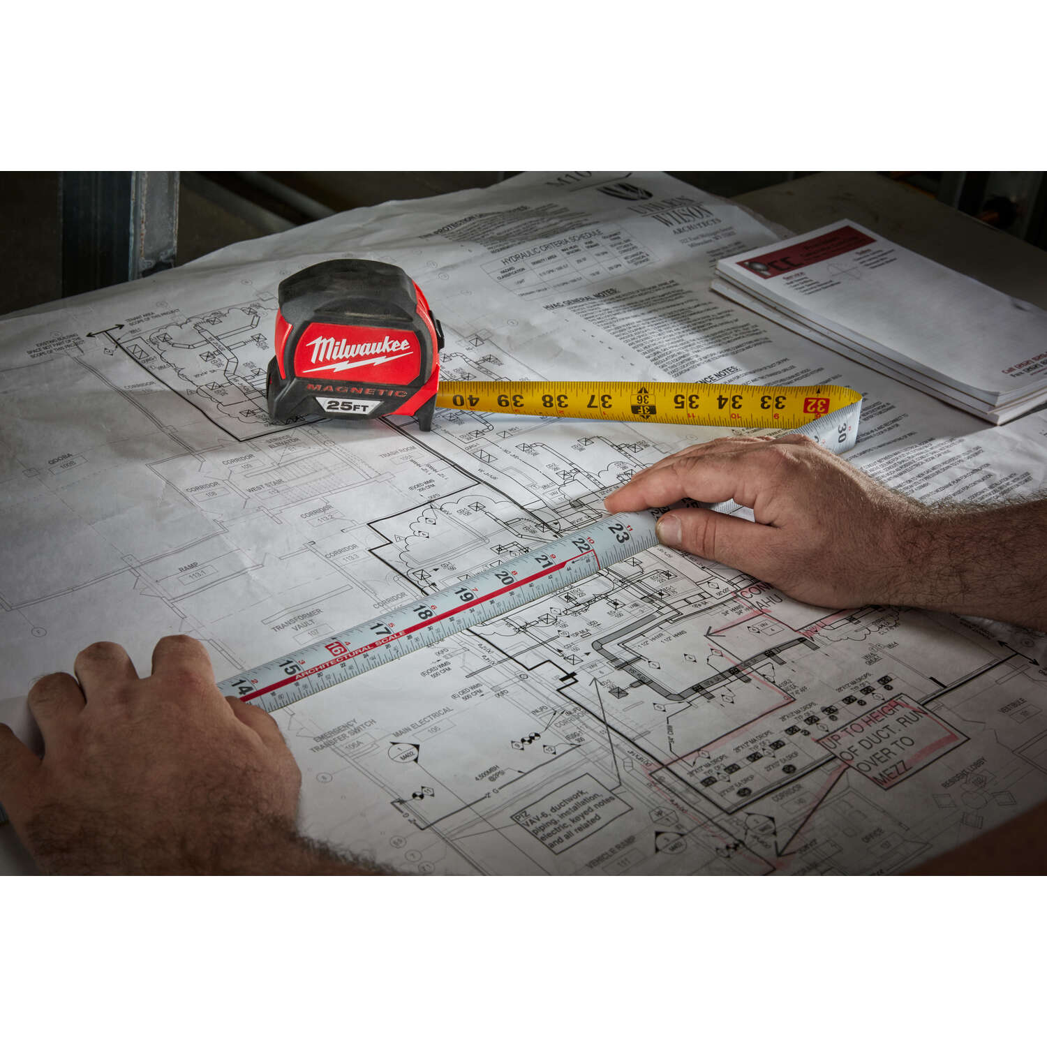 Milwaukee  25 ft. L x 1.83 in. W Magnetic Tape Measure  Red  1 pk
