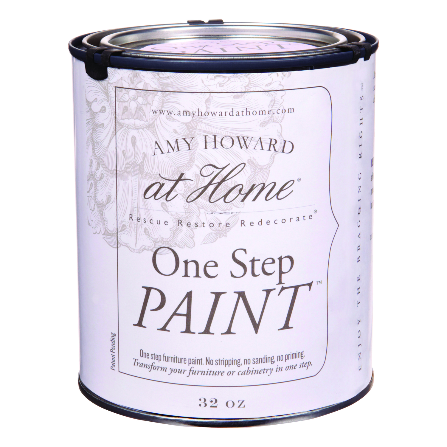 Amy Howard at Home  Flat Chalky Finish  Palmer Pink  One Step Paint  Latex  32 oz.