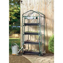 Shelter Logic  Grow It  57 in. H x 23 in. W Green  Plastic  Garden Net Trellis
