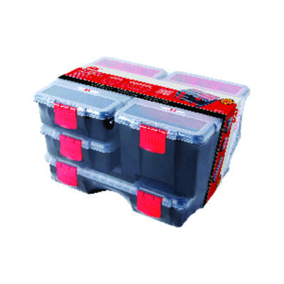 Ace  3 in. H Storage Organizer Set  Plastic  Black