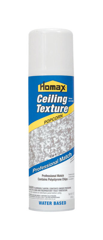 Homax  Pro Match  White  16 oz. Water-Based  Popcorn Ceiling Spray Texture
