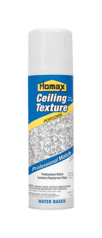 Homax  Pro Match  White  Water-Based  Popcorn Ceiling Spray Texture  16 oz.