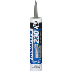 Dap  Dynaflex 230  Gray  Silicone  Door, Trim and Window  Sealant  10.1 oz.