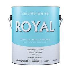 Royal Flat (Non-Glare) White Paint & Primer Interior 1 gal.