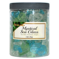 Mosser Lee  Mystical Sea Glass  Assorted  Vase Filler  2 lb.