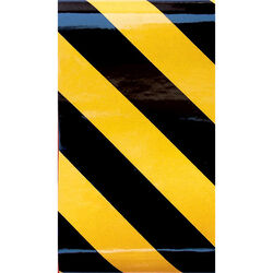 Hillman 24 in. Black/Yellow 24 in. L x 2 in. W Reflective Safety Tape 1 pk