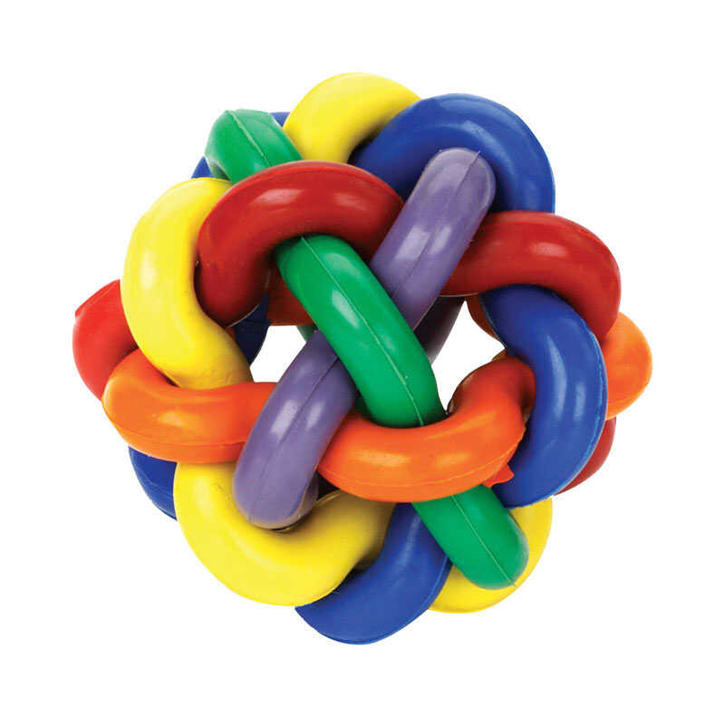 MultiPet  Multicolored  Nobbly Wobbly Ball  Rubber  Ball Dog Toy  Large