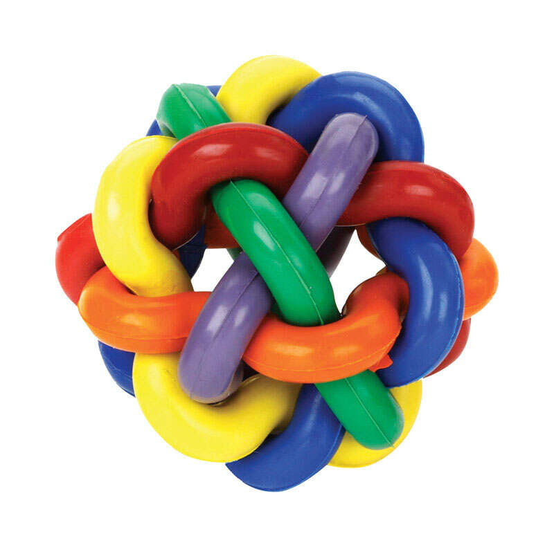 MultiPet  Multicolored  Nobbly Wobbly Ball  Rubber  Ball Dog Toy  Large  1