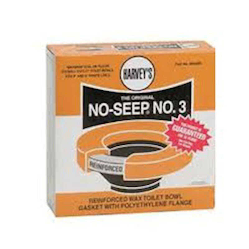 Harvey's  No-Seep No. 3  Wax Ring  Polyethylene / Wax  For 3 in. and 4. in waste lines