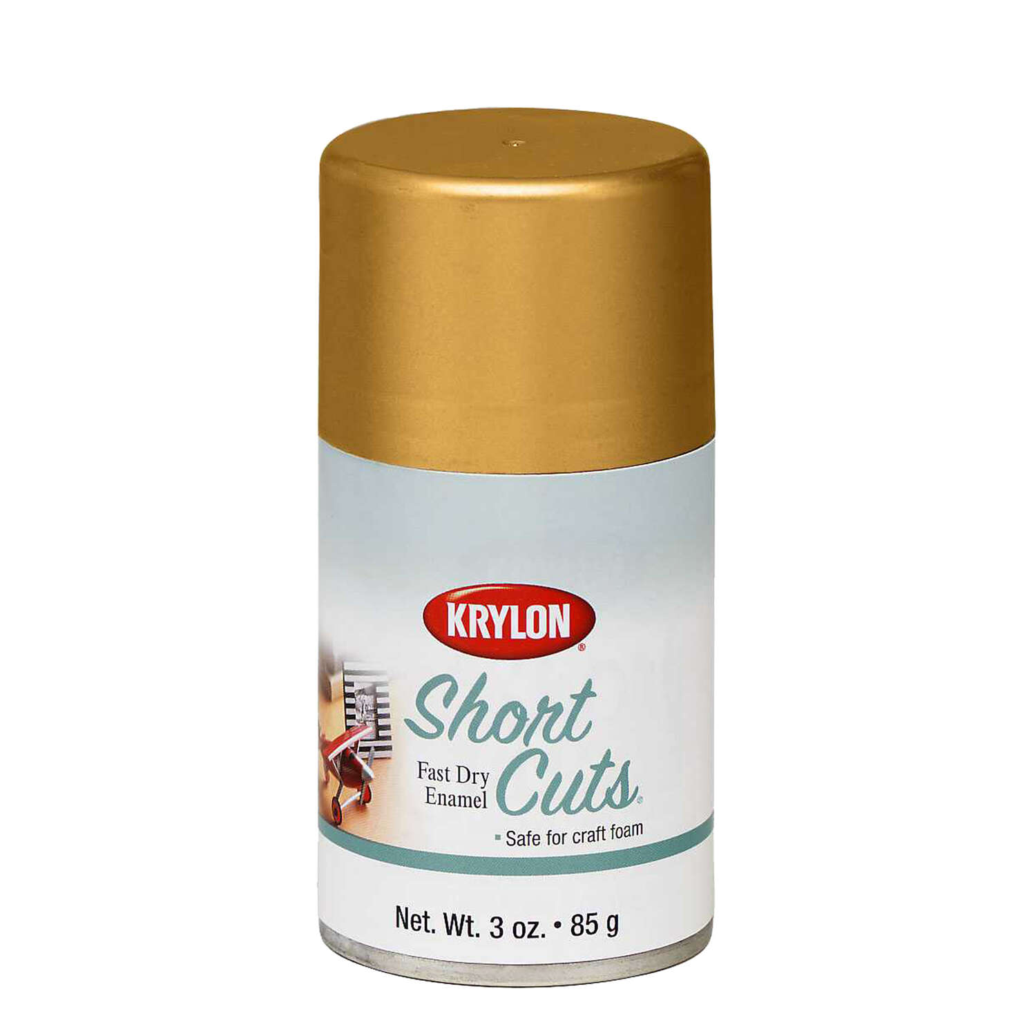 Krylon  Short Cuts  Gloss  Gold Leaf  Spray Paint  3 oz.
