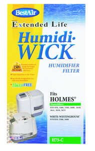 Best Air  Humidifier Wick  1 pk For Fits for Bionaire models W12, W14, W15 BWF1500-UC