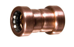 Mueller Streamline 3/4 in. Push x 3/4 in. Dia. Sweat Copper Coupling