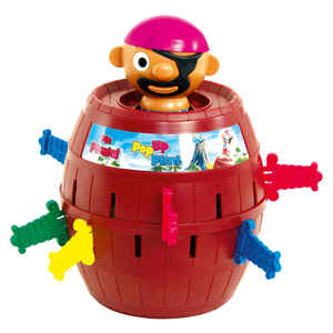 TOMY  Pop-Up Pirate Game  Multicolored  Plastic