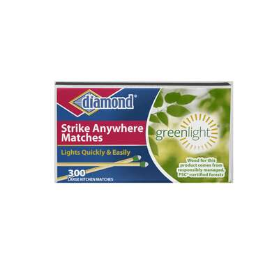 Diamond Greenlight 2 in. L Strike Anywhere Matches 300 pc.