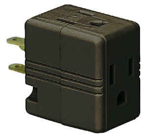 Ace  Polarized  3 outlets Adapter  1 pk