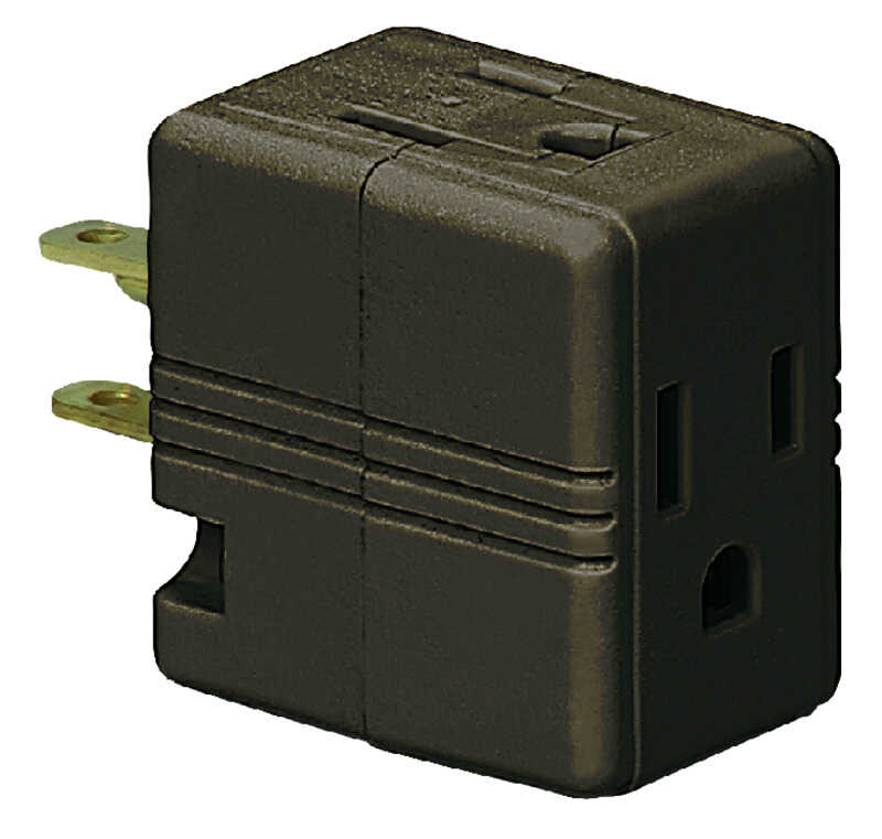 Ace  Polarized  3  Surge Protection 1 pk Outlet Adapter