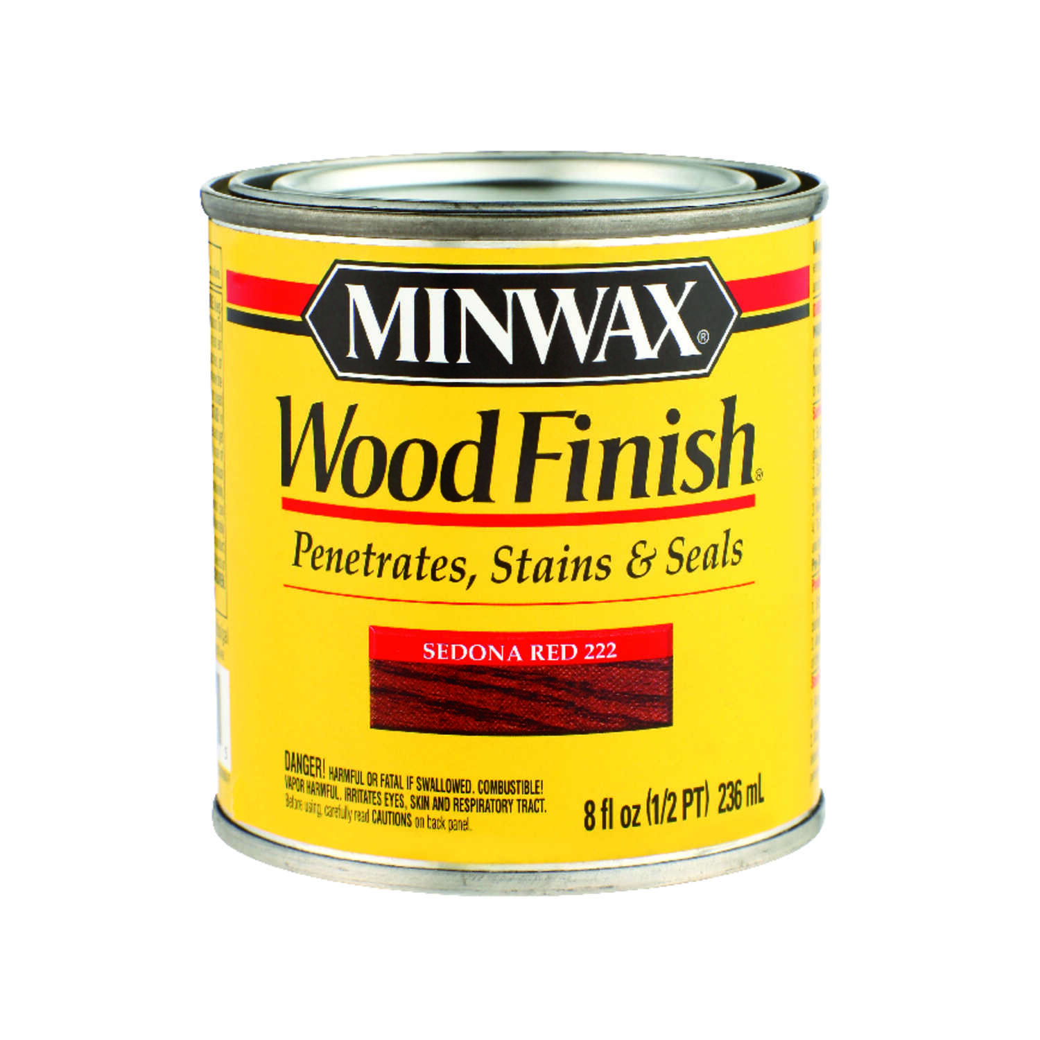 Minwax  Wood Finish  Transparent  Sedona Red  Deep  Oil-Based  Wood Stain