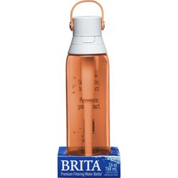 Brita  Premium  26 oz. Filtered Water Bottle  Coral