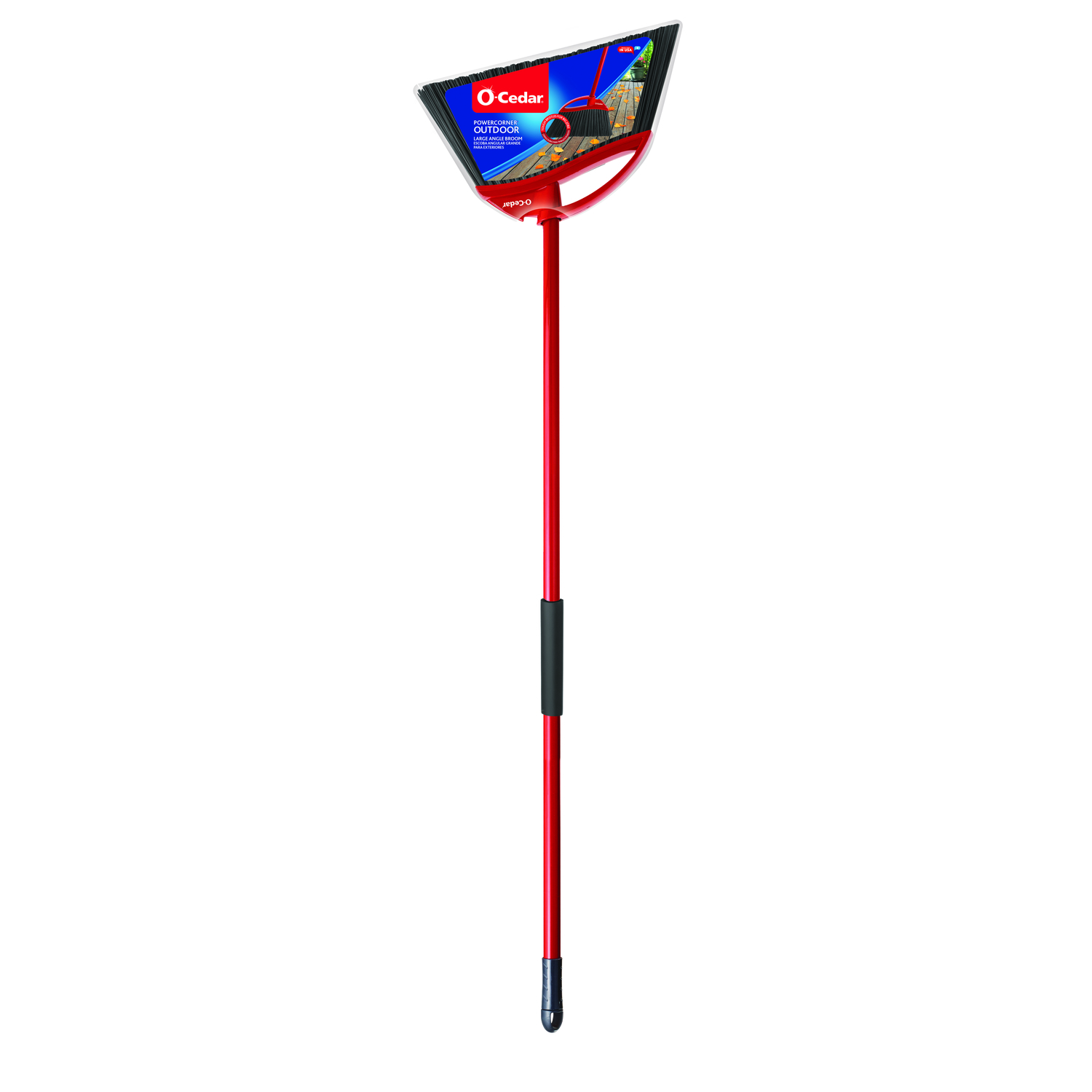 O-Cedar  Outdoor Power Corner  12 in. W Broom