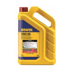 Irwin  Strait-Line  5 lb. Permanent  Marking Chalk  Red  1 pk