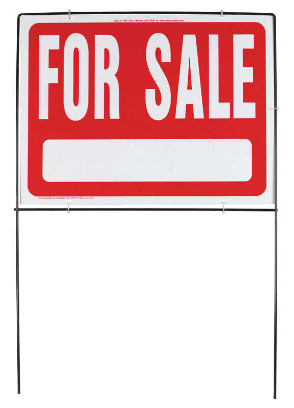 Hy-Ko  English  For Sale  Sign  18 in. H x 24 in. W Plastic