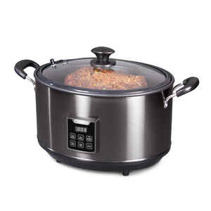 Presto  8 qt. Black  Stainless Steel  Programmable Slow Cooker/Smoker