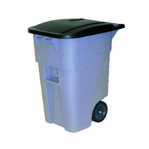 Rubbermaid Commercial  BRUTE  50 gal. Plastic  Wheeled Brute Refuse Can  Lid Included