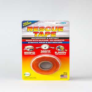 Rescue Tape  1 in. W x 12 ft. L Orange  Silicone Tape  6 oz.
