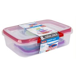 Decor  Match-Ups  Food Storage Container Set  4 pk Assorted