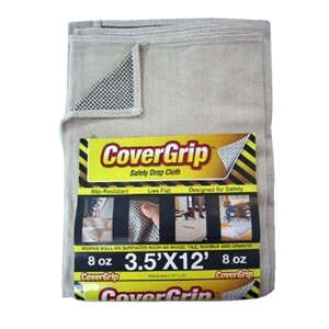 Covergrip  Light Weight  Canvas  Safety Drop Cloth  3.5 ft. W x 12 ft. L