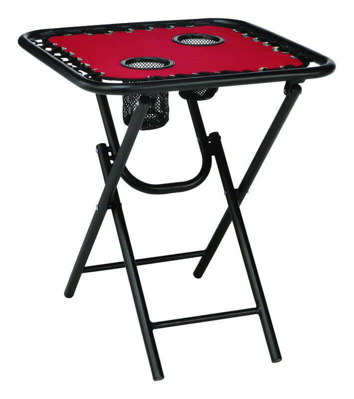 Living Accents  Bungee  Red  Folding  Square  Table