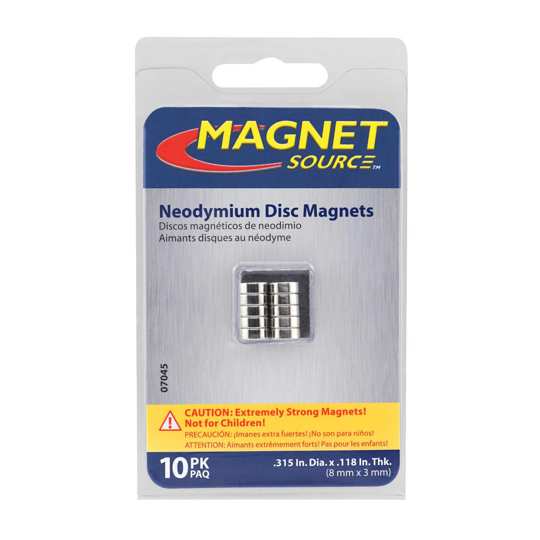 Master Magnetics  118 in  Neodymium Super Disc Magnets 2 9