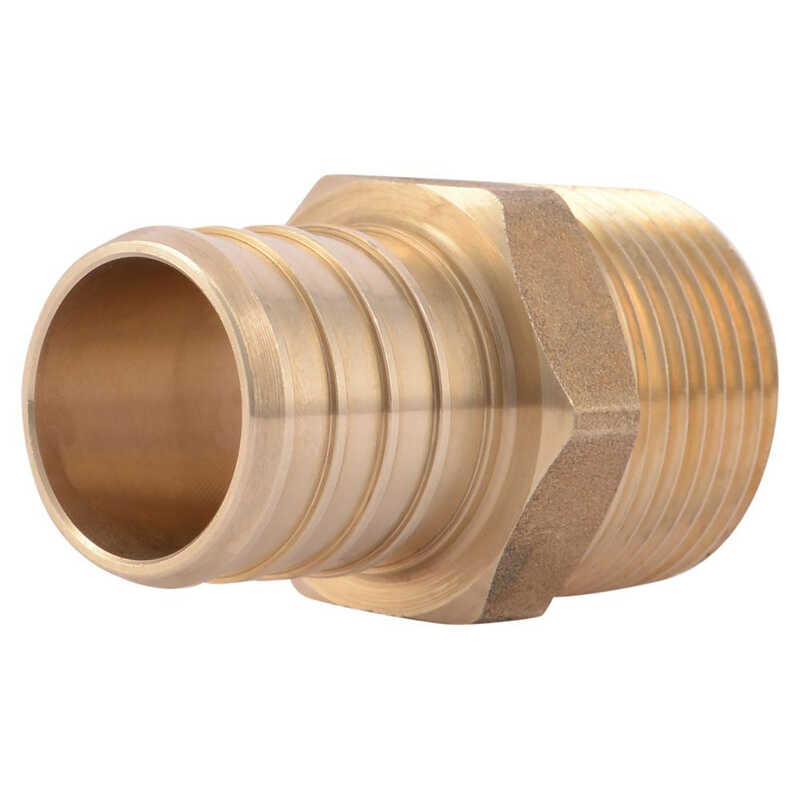 SharkBite  1 in. PEX   x 3/4 in. Dia. MPT  Adapter  Bronze