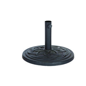 Bond Manufacturing  Black  Resin Stone  Umbrella Base  17.7 in. W x 13.18 in. H x 17.7  L