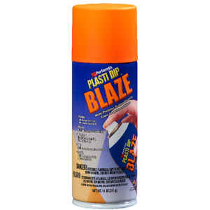 Plasti Dip  Flat/Matte  Blaze Orange  Multi-Purpose Rubber Coating  11 oz oz.