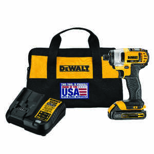 DeWalt  20V MAX  20 volt Cordless  Brushed  Impact Driver  Kit  1400 in-lb
