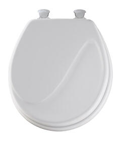Mayfair  Round  White  Molded Wood  Toilet Seat
