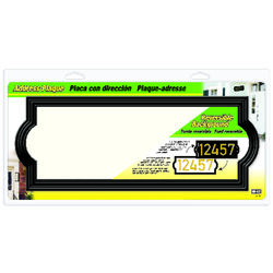 Hy-Ko  Matte  Black  Plastic  Rectangle  Address Plate